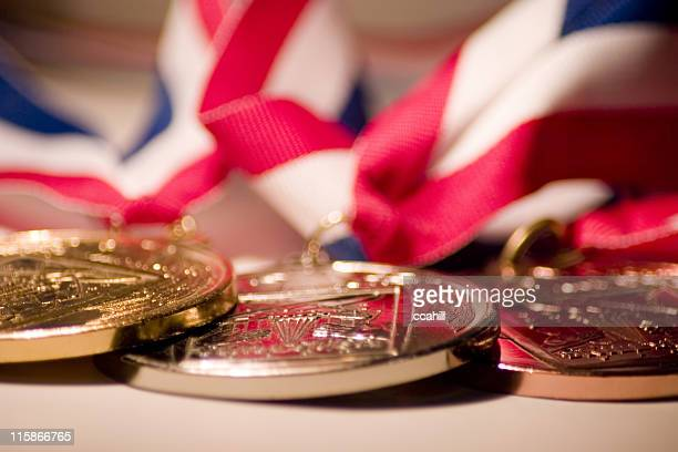 medallions - the olympic games stock pictures, royalty-free photos & images