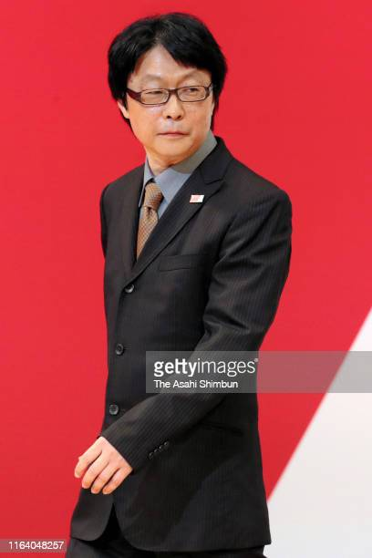 Medals designer of the Tokyo 2020 Olympic Games Junichi Kawanishi attends the 'One Year To Go' ceremony on the day marking one year before the start...