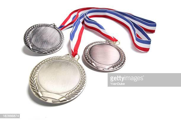 Medalhas isolado no branco (w/local