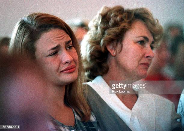 MEdeadkidmemorial#20930RL–NikonScan–Ignacio Colorado– Heidi Hocker and her mother Glenda attend a memorial service for Josh Turville who was shot to...