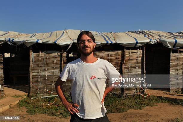 Medecins Sans Frontieres South Sudan Medecins Sans Frontiers field coordinator Vittorio Oppizzi in front of the Abyei outpatients department in Abyei...
