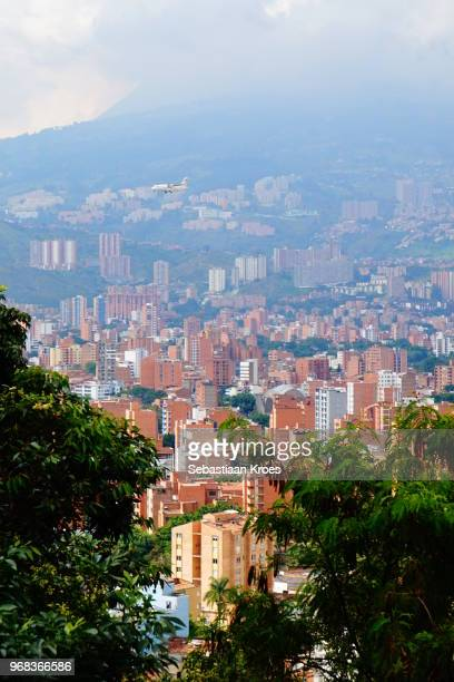 Medellin in the Clouds, Suburb, Airplane, Colombia