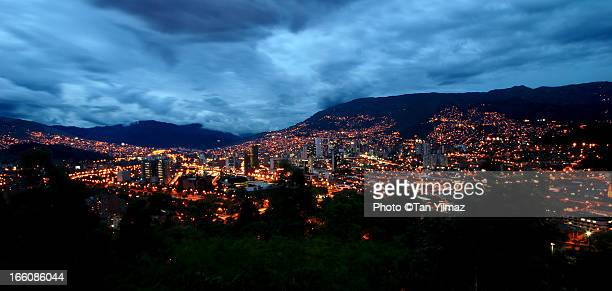 medellin panorama - medellin colombia stock pictures, royalty-free photos & images