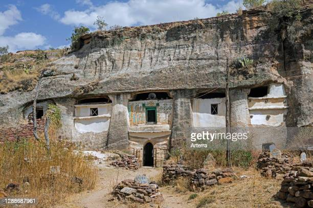 Medhane Alem Adi Kesho, Orthodox rock-hewn church near Wukro, Misraqawi Zone, Tigray Region, Ethiopia, Africa.