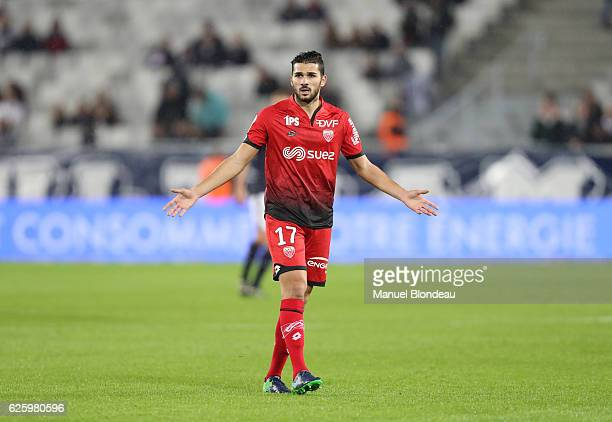 Medhi Abeid of Dijon during the French Ligue 1 match between Bordeaux and Dijon at Stade Matmut Atlantique on November 26 2016 in Bordeaux France