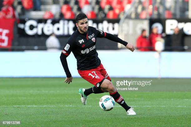 Medhi Abeid of Dijon during the Ligue 1 match between EA Guingamp and Dijon FCO at Stade du Roudourou on May 6 2017 in Guingamp France