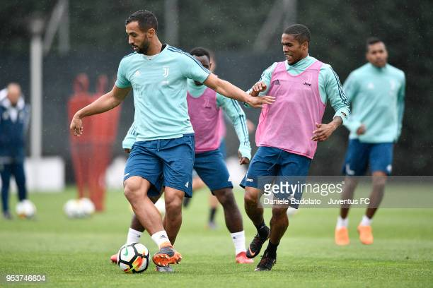 Medhi Benatia during the Juventus training session at Juventus Center Vinovo on May 2 2018 in Vinovo Italy