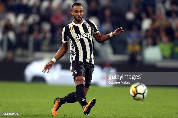 Medhi Benatia of Juventus FC in action during the Serie A match between Juventus and AC Chievo Verona on September 9 2017 in Turin Italy