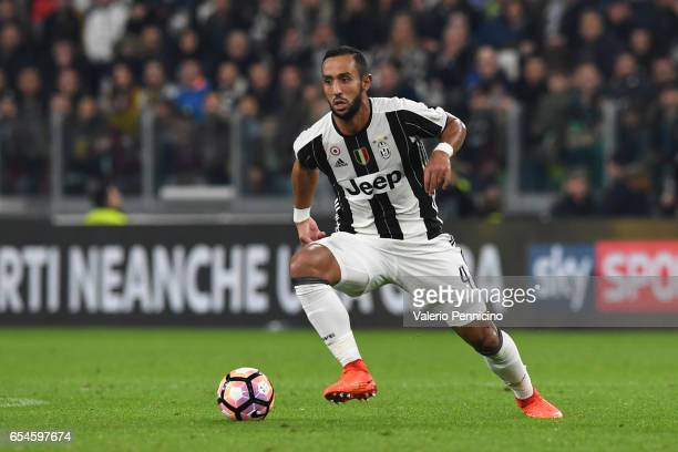 Medhi Benatia of Juventus FC in action during the Serie A match between Juventus FC and AC Milan at Juventus Stadium on March 10 2017 in Turin Italy
