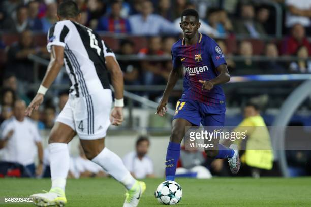 Medhi Benatia of Juventus FC Ousmane Dembele of FC Barcelona during the UEFA Champions League group D match between FC Barcelona and Juventus FC on...