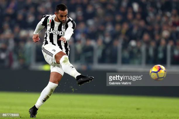 Medhi Benatia of Juventus in action during the serie A match between Juventus and AS Roma on December 23 2017 in Turin Italy