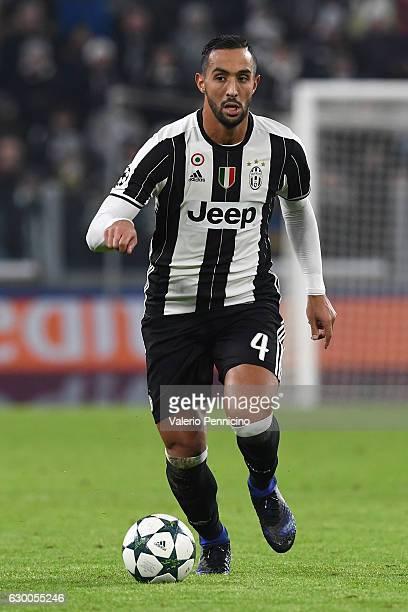 Medhi Benatia of Juventus in action during the UEFA Champions League Group H match between Juventus and GNK Dinamo Zagreb at Juventus Stadium on...