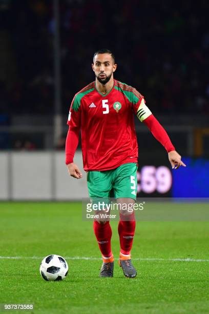 Medhi Benatia of Morocco during the international friendly match between Morocco and Serbia on March 23 2018 in Turin Italy