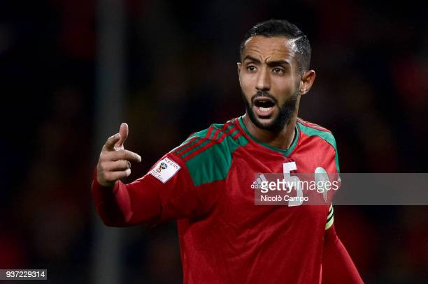 Medhi Benatia of Morocco gestures during the International friendly football match between Morocco and Serbia Morocco won 21 over Serbia