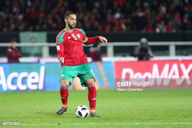 Medhi Benatia of Morocco in action during the international friendly match between Serbia and Morocco Morocco wins 21 over Serbia