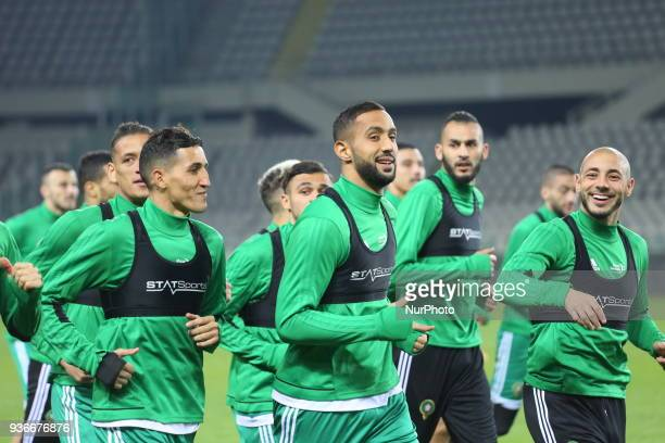 Medhi Benatia player of Juventus FC and Marocco national team during training ahied the international friendly football match between Marocco and...