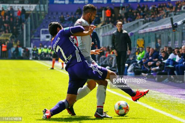 Medhi Carcela midfielder of Standard Liege and Andy Najar midfielder of Anderlecht pictured during the Jupiler Pro League match between RSC...