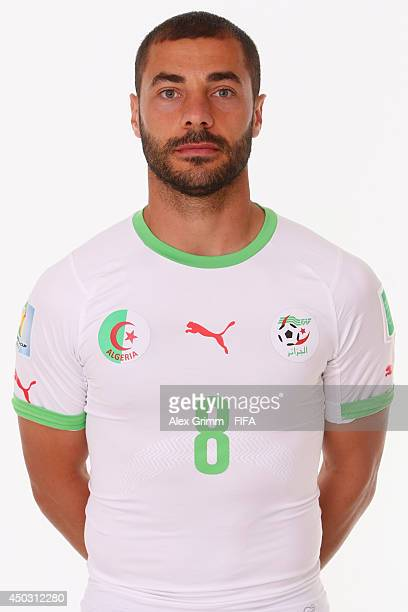 Medhi Lacen of Algeria poses during the official FIFA World Cup 2014 portrait session on June 8 2014 in Sao Paulo Brazil