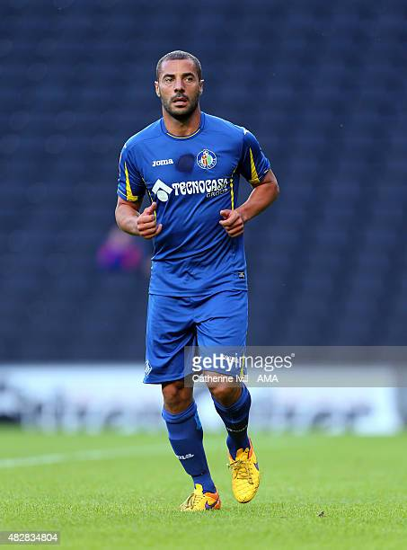Medhi Lacen of Getafe during the preseason friendly between MK Dons and Getafe at Stadium mk on July 28 2015 in Milton Keynes England