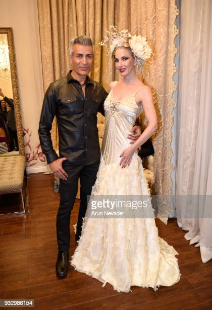 Medi Em and Dustin Quick attend Los Angeles Fashion Week Powered by Art Hearts Fashion LAFW FW/18 10th Season Anniversary Backstage and Front Row Day...