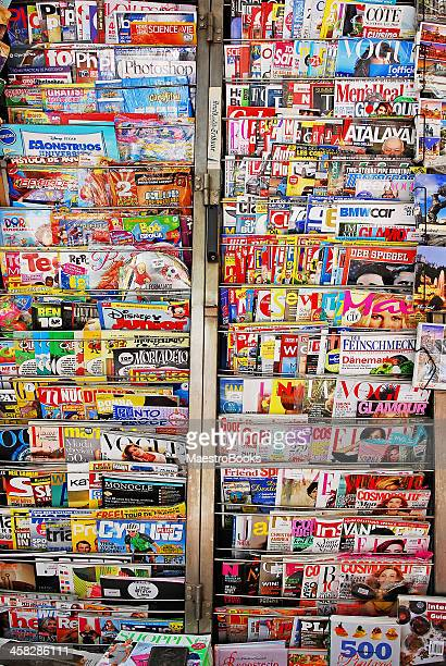 Media and magazine news stand.