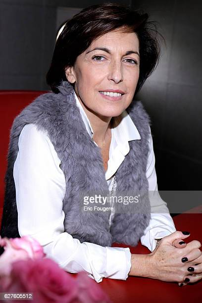 Media and television personality Ruth Elkrief Photographed in PARIS