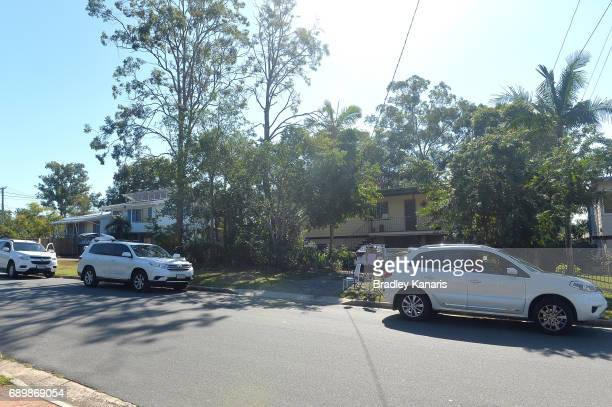 Media are seen keeping a watch on Scheppelle Corby's mother's house on May 30 2017 in Brisbane Australia Schapelle Corby returned to Australia on...