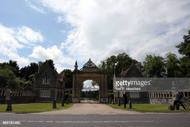 Media are seen outside a gated entrance to St Mark's Church ahead of the Wedding of Pippa Middleton and James Matthews on May 19 2017 in Englefield...