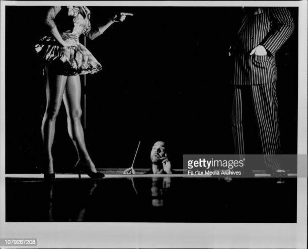 """Media Call for the stage production of """"Guys and Dolls"""".Conductor David King, goes through a number with the support of Nancye Hayes and Peter Adams...."""