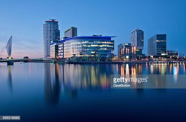 media centre uk at salford - manchester england stock pictures, royalty-free photos & images