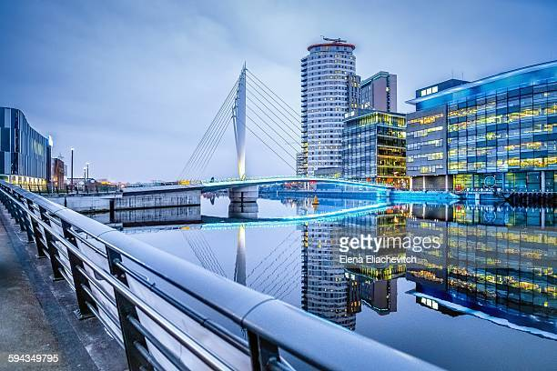 Media city and suspension bridge