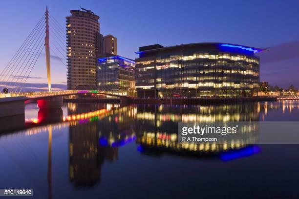 BBC, Media City at night