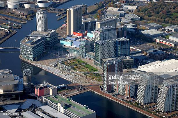 Media City, Salford Quays from air
