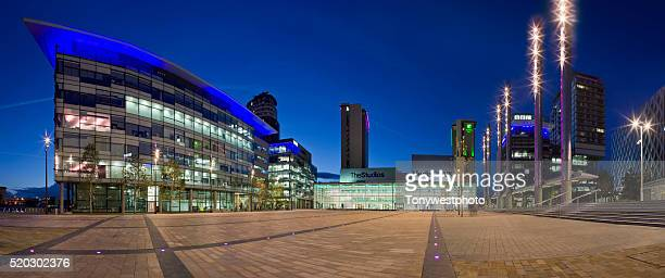 media city, salford quays, manchester, england - salford stock pictures, royalty-free photos & images