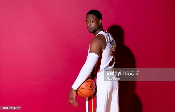 0ddf40537c6 A media day portrait of Dwyane Wade of the Miami Heat on September 24 2018  in