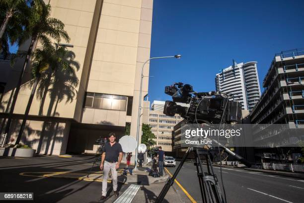 Media do live crosses out the front of the Sofitel Hotel in Brisbane where reportedly Schapelle Corby is staying after her arrival from Bali on May...