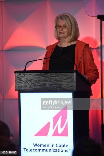 Media Entrepreneur Geraldine Laybourne speaks at the 2014 Women in Cable Telecommunications Leadership Conference on September 15 2014 in New York...