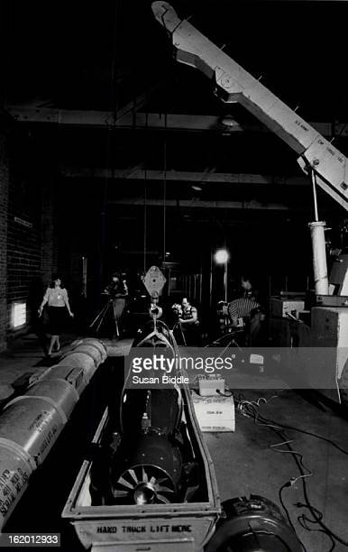 AUG 2 1984 AUG 3 1984 Media examines torpedoes at Rocky Mountain arsenal where they were being worked on to repair for shipment on to conn This is...