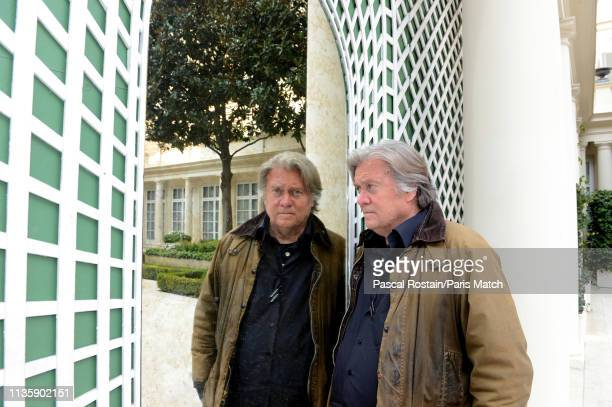 Media executive political figure strategist former investment banker and the former executive chairman of Breitbart News Steve Bannon is photographed...