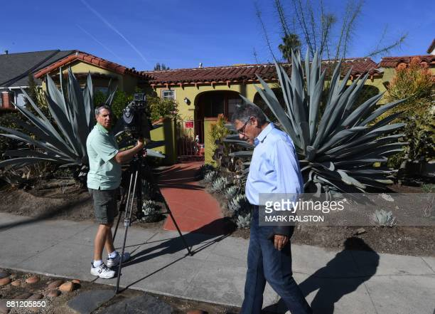 Media gather outside the house belonging to Doria Radlan who is the mother of actress Meghan Markle as Prince Harry and Markle announce their...