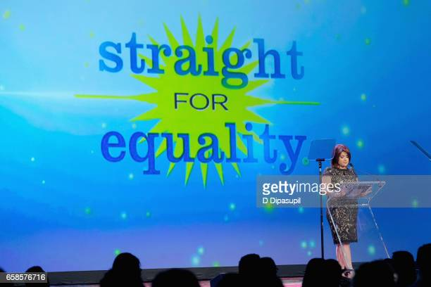 Media Honoree Ana Navarro speaks on stage during the ninth annual PFLAG National Straight for Equality Awards Gala on March 27, 2017 in New York City.