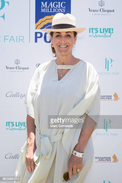 Media identity Jackie Frank attends Magic Millions Polo on January 7 2018 in Gold Coast Australia