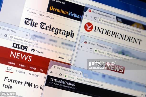 media in the uk - news event stock pictures, royalty-free photos & images
