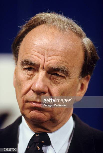 Media magnate Rupert Murdoch at the launch of Sky TV in London 5th February 1989