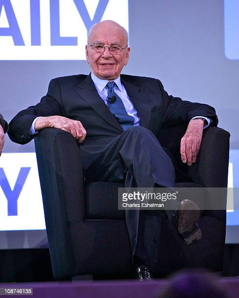 Media magnate Rupert Murdoch attends the launch of 'The Daily' at the Solomon R Guggenheim Museum on February 2 2011 in New York City