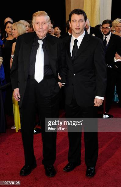 Media magnate Sumner Redstone and his grandson Brandon Korff arrive at the 83rd Annual Academy Awards at the Kodak Theatre February 27 2011 in...
