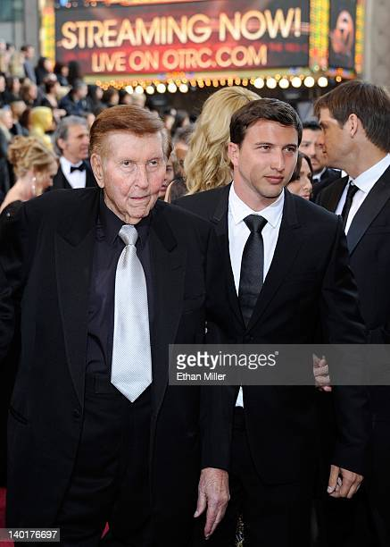 Media magnate Sumner Redstone and his grandson Brandon Korff arrive at the 84th Annual Academy Awards at the Hollywood Highland Center February 26...