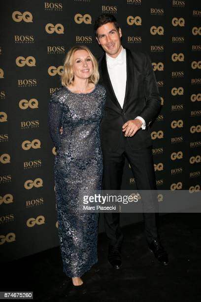 Media Man of the Year Mathieu Gallet and a guest attends the 'GQ Men of the year awards 2017' at Le Trianon on November 15 2017 in Paris France