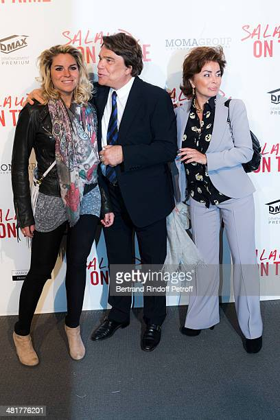 Media mogul Bernard Tapie his wife Dominique Tapie and their daughter Sophie Tapie attend the premiere of French director Claude Lelouch's film...