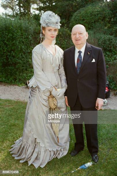 Media Mogul Lew Grade with actress Lysette Anthony in Monte Carlo, France for the filming oh his klatest movie 'The Ghost of Monte Carlo', 19th...